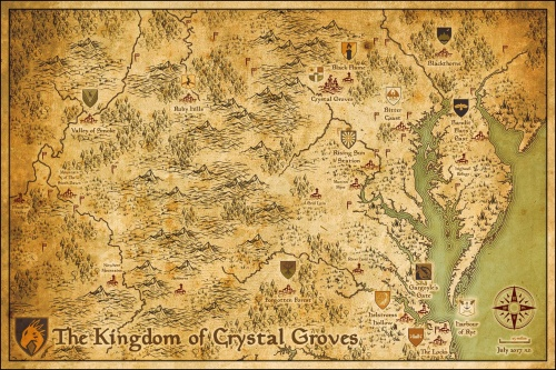 Map of the Kingdom of Crystal Groves, created by Bagel